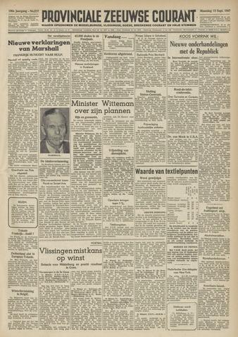 Provinciale Zeeuwse Courant 1947-09-15