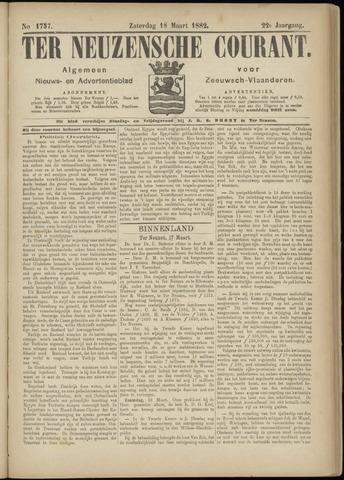 Ter Neuzensche Courant. Algemeen Nieuws- en Advertentieblad voor Zeeuwsch-Vlaanderen / Neuzensche Courant ... (idem) / (Algemeen) nieuws en advertentieblad voor Zeeuwsch-Vlaanderen 1882-03-18