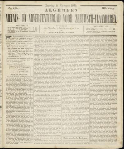Ter Neuzensche Courant. Algemeen Nieuws- en Advertentieblad voor Zeeuwsch-Vlaanderen / Neuzensche Courant ... (idem) / (Algemeen) nieuws en advertentieblad voor Zeeuwsch-Vlaanderen 1870-11-26