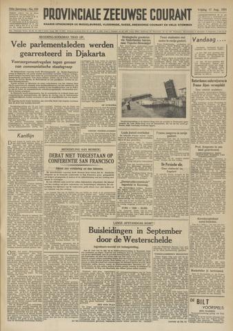 Provinciale Zeeuwse Courant 1951-08-17