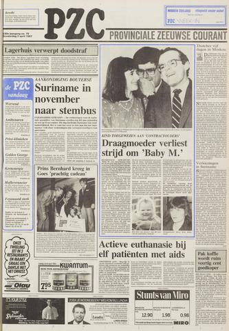 Provinciale Zeeuwse Courant 1987-04-02