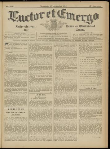 Luctor et Emergo. Antirevolutionair nieuws- en advertentieblad voor Zeeland / Zeeuwsch-Vlaanderen. Orgaan ter verspreiding van de christelijke beginselen in Zeeuwsch-Vlaanderen 1915-11-17