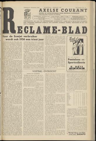 Axelsche Courant 1956-02-01