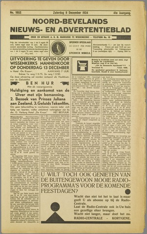 Noord-Bevelands Nieuws- en advertentieblad 1934-12-08
