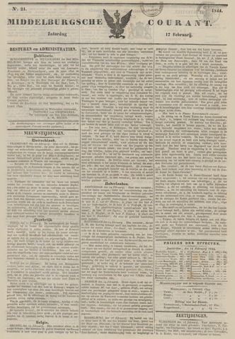 Middelburgsche Courant 1844-02-17