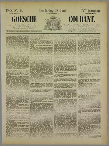 Goessche Courant 1885-06-18