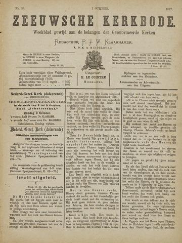 Zeeuwsche kerkbode, weekblad gewijd aan de belangen der gereformeerde kerken/ Zeeuwsch kerkblad 1887-10-01