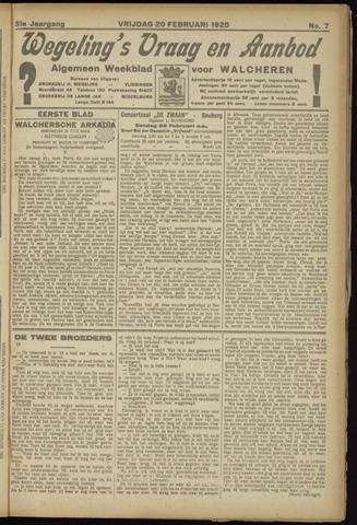 Zeeuwsch Nieuwsblad/Wegeling's Nieuwsblad 1925-02-20