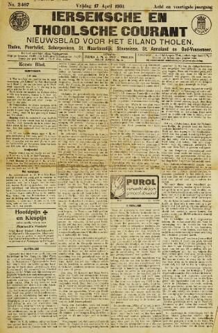 Ierseksche en Thoolsche Courant 1931-04-17