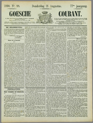 Goessche Courant 1890-08-21