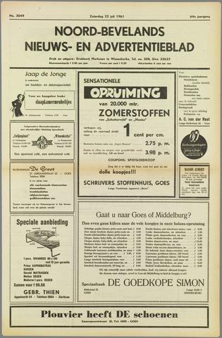 Noord-Bevelands Nieuws- en advertentieblad 1961-07-22