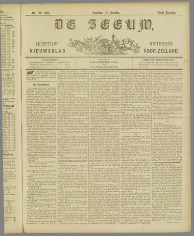 De Zeeuw. Christelijk-historisch nieuwsblad voor Zeeland 1895-12-12