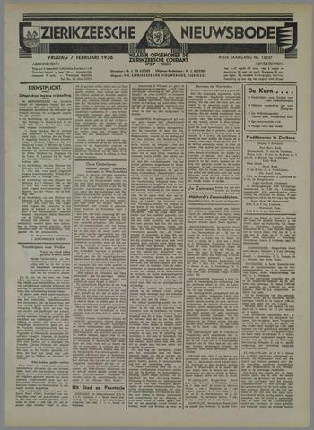 Zierikzeesche Nieuwsbode 1936-02-07
