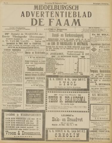 de Faam en de Faam/de Vlissinger 1915-09-29