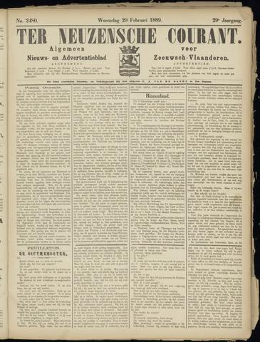 Ter Neuzensche Courant. Algemeen Nieuws- en Advertentieblad voor Zeeuwsch-Vlaanderen / Neuzensche Courant ... (idem) / (Algemeen) nieuws en advertentieblad voor Zeeuwsch-Vlaanderen 1889-02-20