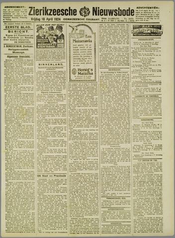 Zierikzeesche Nieuwsbode 1924-04-18