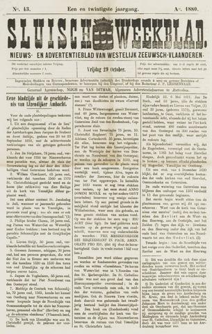 Sluisch Weekblad. Nieuws- en advertentieblad voor Westelijk Zeeuwsch-Vlaanderen 1880-10-29