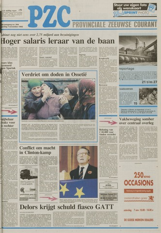 Provinciale Zeeuwse Courant 1992-11-07