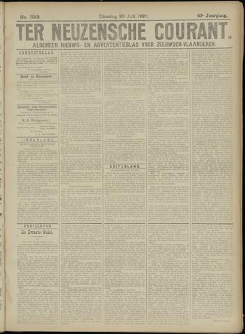 Ter Neuzensche Courant. Algemeen Nieuws- en Advertentieblad voor Zeeuwsch-Vlaanderen / Neuzensche Courant ... (idem) / (Algemeen) nieuws en advertentieblad voor Zeeuwsch-Vlaanderen 1920-07-20