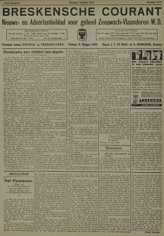 Breskensche Courant 1935-10-01