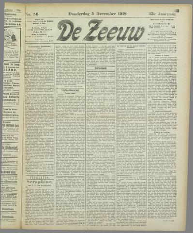 De Zeeuw. Christelijk-historisch nieuwsblad voor Zeeland 1918-12-05