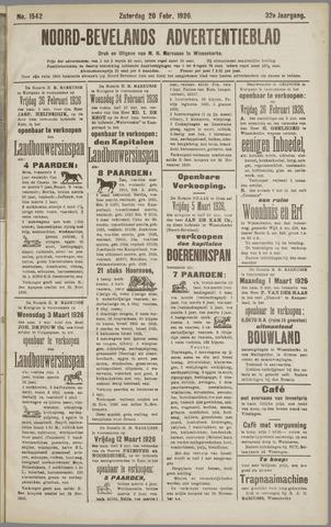 Noord-Bevelands Nieuws- en advertentieblad 1926-02-20