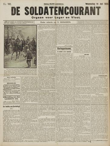 De Soldatencourant. Orgaan voor Leger en Vloot 1915-07-14