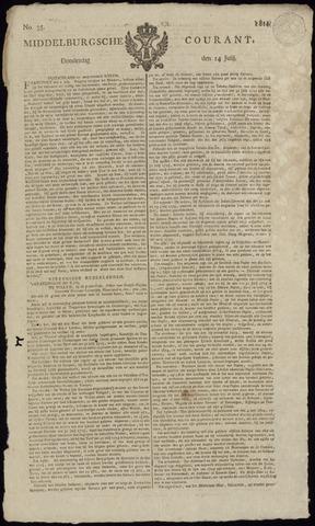 Middelburgsche Courant 1814-07-14