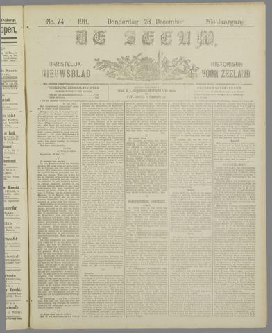De Zeeuw. Christelijk-historisch nieuwsblad voor Zeeland 1911-12-28