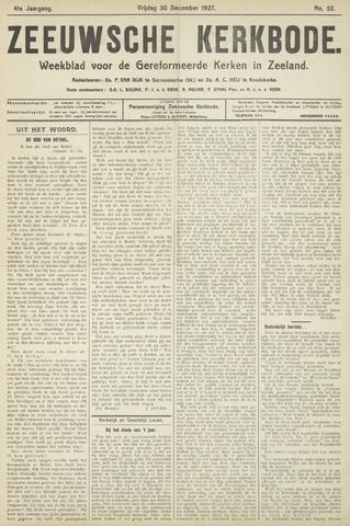 Zeeuwsche kerkbode, weekblad gewijd aan de belangen der gereformeerde kerken/ Zeeuwsch kerkblad 1927-12-30