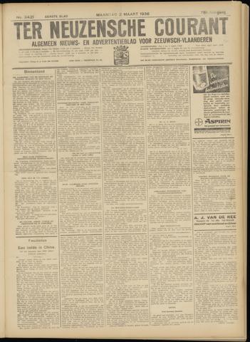 Ter Neuzensche Courant. Algemeen Nieuws- en Advertentieblad voor Zeeuwsch-Vlaanderen / Neuzensche Courant ... (idem) / (Algemeen) nieuws en advertentieblad voor Zeeuwsch-Vlaanderen 1936-03-02