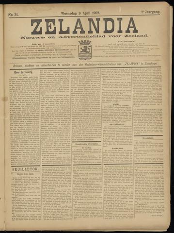 Zelandia. Nieuws-en advertentieblad voor Zeeland | edities: Het Land van Hulst en De Vier Ambachten 1902-04-09
