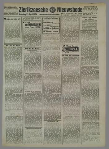 Zierikzeesche Nieuwsbode 1934-04-23
