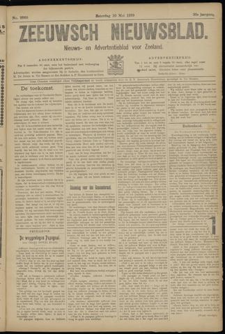Ter Neuzensch Volksblad. Vrijzinnig nieuws- en advertentieblad voor Zeeuwsch- Vlaanderen / Zeeuwsch Nieuwsblad. Nieuws- en advertentieblad voor Zeeland 1919-05-10