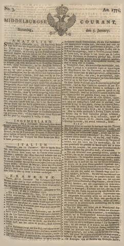 Middelburgsche Courant 1771-01-05