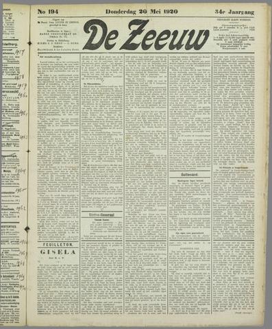 De Zeeuw. Christelijk-historisch nieuwsblad voor Zeeland 1920-05-20