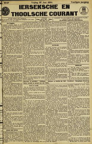Ierseksche en Thoolsche Courant 1924-06-27