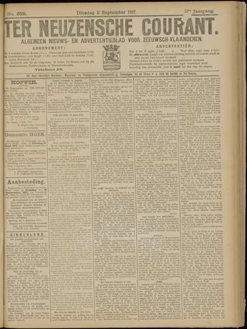 Ter Neuzensche Courant. Algemeen Nieuws- en Advertentieblad voor Zeeuwsch-Vlaanderen / Neuzensche Courant ... (idem) / (Algemeen) nieuws en advertentieblad voor Zeeuwsch-Vlaanderen 1917-09-11
