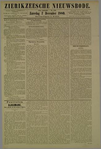 Zierikzeesche Nieuwsbode 1889-12-07