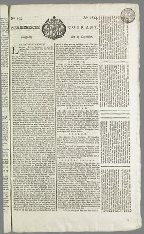 Zierikzeesche Courant 1814-12-27