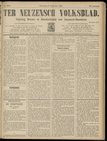 Ter Neuzensch Volksblad. Vrijzinnig nieuws- en advertentieblad voor Zeeuwsch- Vlaanderen / Zeeuwsch Nieuwsblad. Nieuws- en advertentieblad voor Zeeland 1911-09-23