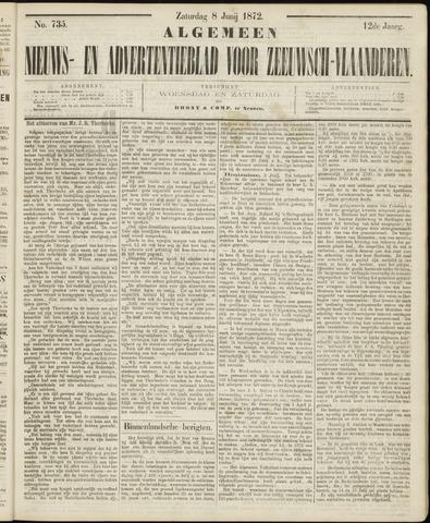 Ter Neuzensche Courant. Algemeen Nieuws- en Advertentieblad voor Zeeuwsch-Vlaanderen / Neuzensche Courant ... (idem) / (Algemeen) nieuws en advertentieblad voor Zeeuwsch-Vlaanderen 1872-06-08