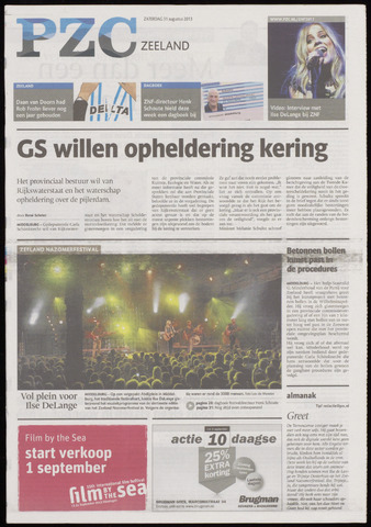 Provinciale Zeeuwse Courant 2013-08-31