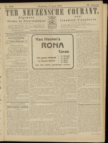 Ter Neuzensche Courant. Algemeen Nieuws- en Advertentieblad voor Zeeuwsch-Vlaanderen / Neuzensche Courant ... (idem) / (Algemeen) nieuws en advertentieblad voor Zeeuwsch-Vlaanderen 1912-04-11