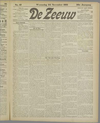 De Zeeuw. Christelijk-historisch nieuwsblad voor Zeeland 1915-11-24