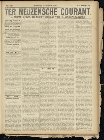 Ter Neuzensche Courant. Algemeen Nieuws- en Advertentieblad voor Zeeuwsch-Vlaanderen / Neuzensche Courant ... (idem) / (Algemeen) nieuws en advertentieblad voor Zeeuwsch-Vlaanderen 1923-10-01