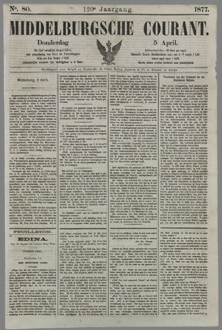 Middelburgsche Courant 1877-04-05
