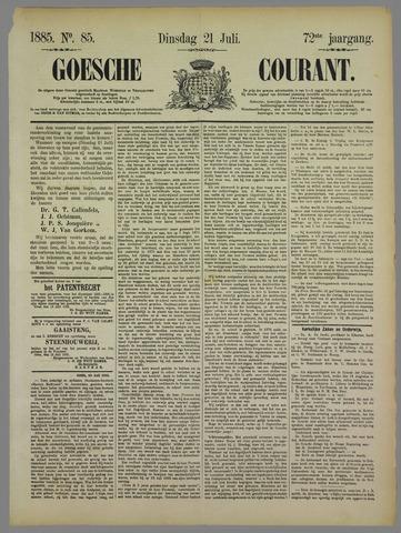 Goessche Courant 1885-07-21