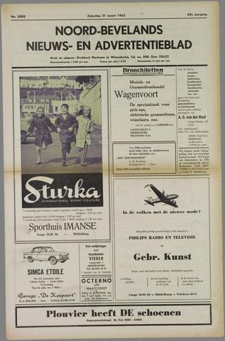 Noord-Bevelands Nieuws- en advertentieblad 1962-03-31