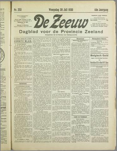 De Zeeuw. Christelijk-historisch nieuwsblad voor Zeeland 1930-07-30